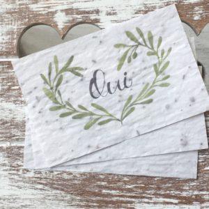 Lot de 10 mini cartes « Oui » – fleurs sauvages.