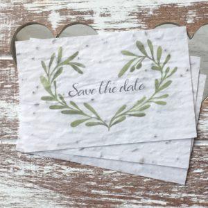 Lot de 10 minis carte « Save the date » – fleurs sauvages.