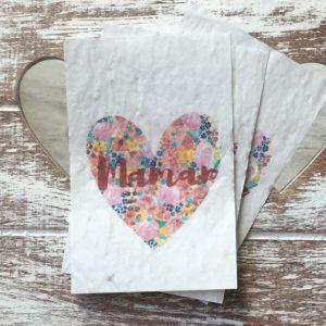 Lot de 10 mini cartes Maman coeur – Herbes aromatiques