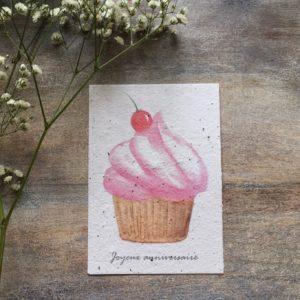 Cupcake carte à planter