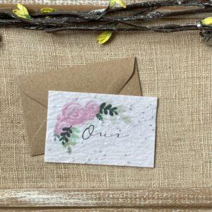 Mini carte Oui fleuri – fleurs sauvages