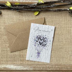 Mini carte « A sa mémoire » – fleurs sauvages