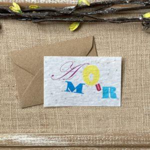 Mini carte Amour – coquelicot bio