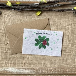 Mini carte porte bonheur – fleurs sauvages