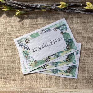 Lot de 10 mini invitations jungle à planter – coquelicot bio