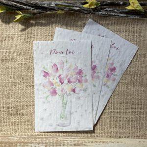 Lot de 10 mini cartes – Pour toi – coquelicot bio