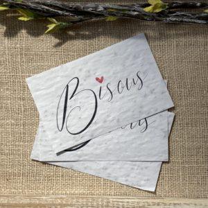 """Lot de 10 mini cartes """"Bisous"""" – fleurs sauvages"""