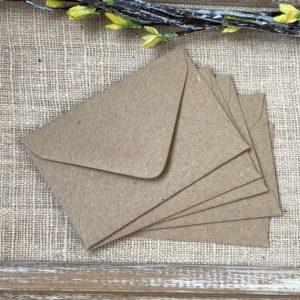 Lot de 10 mini enveloppes Kraft