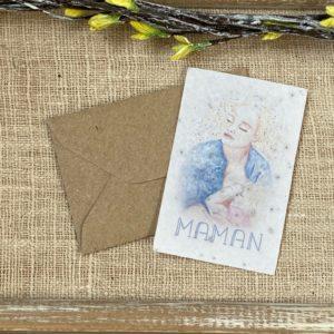 Mini carte Maman allaitante – fleurs sauvages