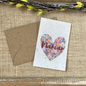 Mini carte Maman coeur – herbes aromatiques