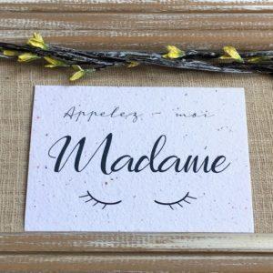 Madame – carte à planter A6