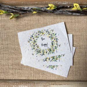 """Lot de 10 mini cartes """"Bee Happy"""" – Fleurs sauvages"""