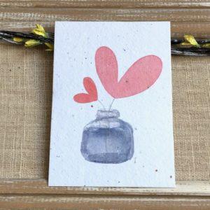Brins d'amour – Carte à planter A6