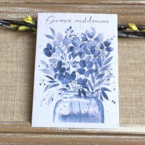 Sincères condoléances – Carte à planter A6