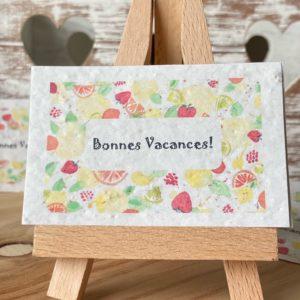 Lot de 10 mini cartes «Bonnes vacances» – Fleurs sauvages