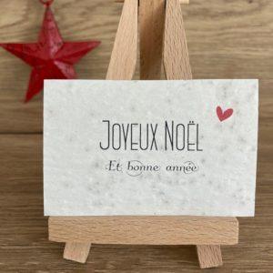 Lot de 10 mini cartes Noël & Bonne année – coquelicot bio